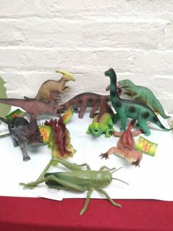 "10 Nature World Dinosaur Figures Toys  7-9"""