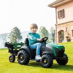 12V Kids Ride On Tractor Car Toys MP3 2 Speeds with Large Tr