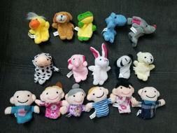 16 PCS Baby Kids Plush Play Game Story Animal Finger family