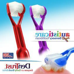 2PK: Autisticare 3-SIDED Toothbrush AUTISM SPECTRUM Special