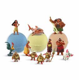 3 Bath Bombs with Moana Toys Inside for Kids– Natural & Sa