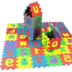 36Pcs Child Baby Number Alphabet Puzzle Foam Maths Education