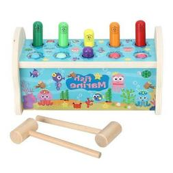3pc Bedroom Toys Education Baby Learning Hit Hamster Game Ha