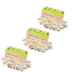3pcs toddler kids montessori sorting grouping matching