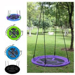 40'' Kids Outdoor Round Hanging Rope Nest web Tree Swing Gar