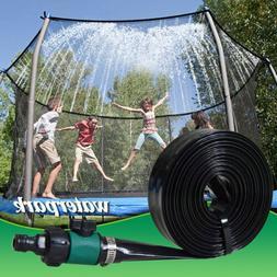 49.2ft Outdoor Trampoline Sprinkler,Summer Fun Waterpark Wat