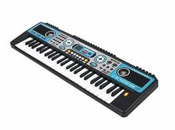 MQ 49 Key Blue and Black Childs Toy Electronic Keyboard - Pl