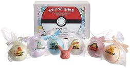 6 POKE-Bomb Bath Bombs For Kids With Surprise Toys Inside  U