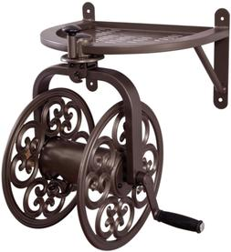 Liberty Garden 710 Navigator Rotating Garden Hose Reel, Hold