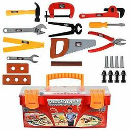 WolVol 26-piece Tool Box Set with Removable Tool Tray - Grea