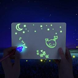 A5 Fluorescent Light Writing Pad Kids Drawing Painting Board