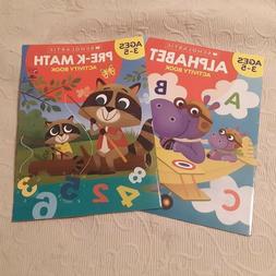 Scholastic Activity Books Ages 3-5 Pre-K Math & Alphabet Hom