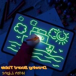A4 Draw With Light Fun And Developing Drawing Board Kids Edu