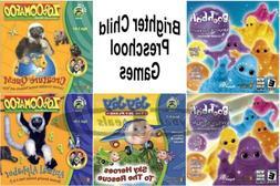 Age 3-5 Brighter Child Preschool Learning Games PC Windows X