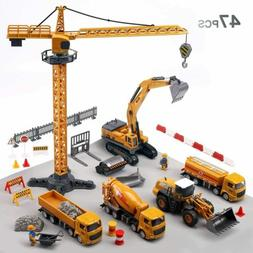 Alloy Construction Vehicles Truck Toy Set Kids Engineering T