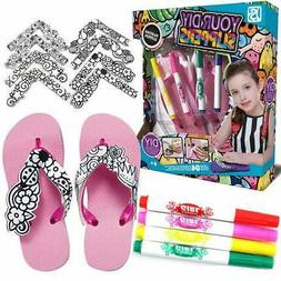 Arts Crafts Supplies Painting Slippers for Kids Toddlers Gir