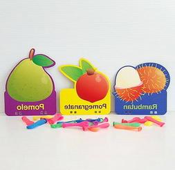 Basic 30 Type Baby Flash Cards FRUIT Kids Children Self Lear