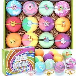 Bath Bombs for Kids with Toys Inside for Girls Boys - Surpri