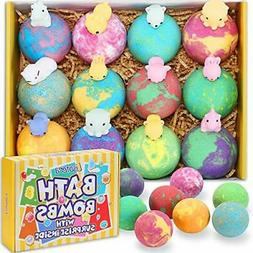Bath Bombs for Kids with Toys Inside -  XXL Large Size 12 Gi