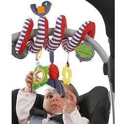 BeeSpring Kid Baby Crib Cot Pram Hanging Rattles Spiral Stro