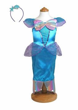 Blue Mermaid Princess Dress Ariel-like Dress-Up Costume Play