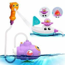 BPA Free Submarine Spray Bath toys & Boat Pipe - Water pump