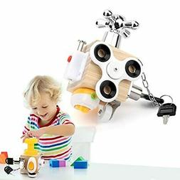 Busy Cube for Kids Sensory Travel Toys for Toddlers 1-3, Act
