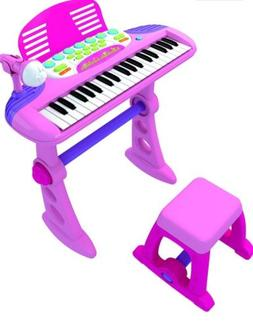 Children's Toy Electronic Keyboard With 37 Keys PINK