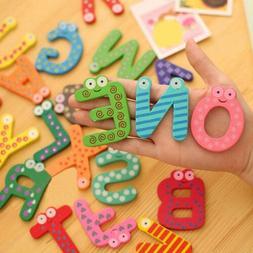 Colorful 26 Letters 0-9 Num Cartoon Wooden Educational Kids