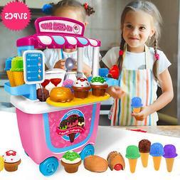 Cute Kids Simulation Ice Cream Shop Dresser Cart Preschool T