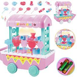 Cute Kids Supermarket Ice Cream Cart Shop Dessert Food Prete