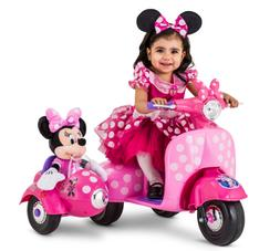 Disney Minnie Mouse Scooter with Sidecar Indoor Outdoor Kids