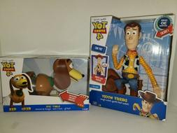 Disney Pixar Toy Story 4 Sheriff Woody Talking and Slinky Do