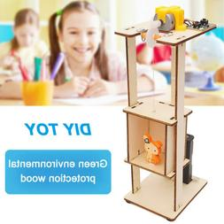 DIY Assemble Electric Lift Toys Kids Science Experiment Mate
