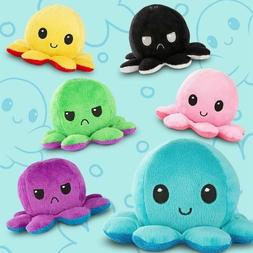 Double-Sided Flip Reversible Octopus Plush Toy Squid Stuffed