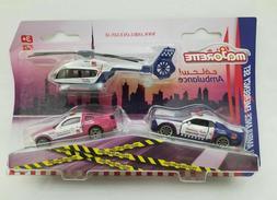 MAJORETTE Dubai ambulance emergency set vehicles & helicopte