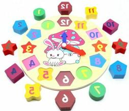 educational learning sorting clock puzzle play toy