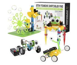 Electric Motor Robotic Science Kits For Kids 4 In 1 DIY STEM