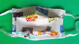 Handmade Face Mask Kids Size. 5-8Y Years Toy Story Multicolo