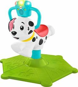 Fisher-Price - Bounce and Spin Puppy - White
