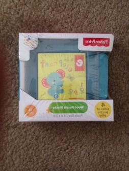 Fisher-Price Wood Puzzle Blocks Age:18 Months 4 Side of Puzz