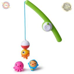 Fishin Bath Toy Fishing Rod Magnetic Bobbers Boy Girl Toddle
