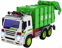 Friction Garbage Truck Pull Back Toy For Kids Boys Girls Wit