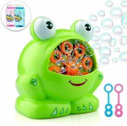 frog shaped bubble machine automatic bubble blower