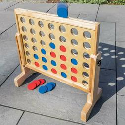 Giant Connect 4 In A Row Board Game toy Wood Yard Large Game