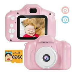 Girl Toys Gifts Kids Camera Digital for 2-8 Year Old with 32