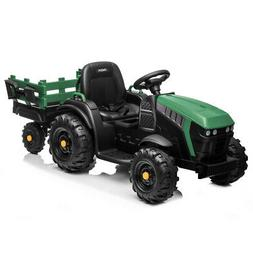GREEN 12V Kids Ride On Tractor Car Toys Battery Music Seat B