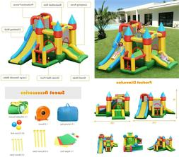 Inflatable Dual Slide Kids Bounce House Jumping Castle with