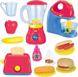 JOYIN Play Kitchen Appliances Mixer, Blender and Toaster