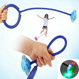 Jump Swing Ball Kids Ankle Skip Ball Toy Flash Jumping Rope